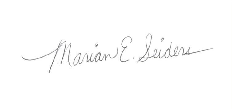 Marian E.  Seiders Signature