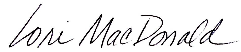 Lori MacDonald Signature