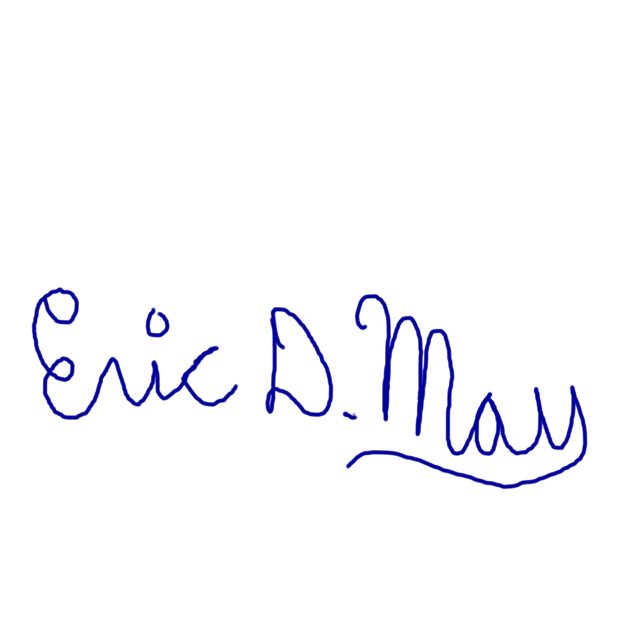 Eric May Signature
