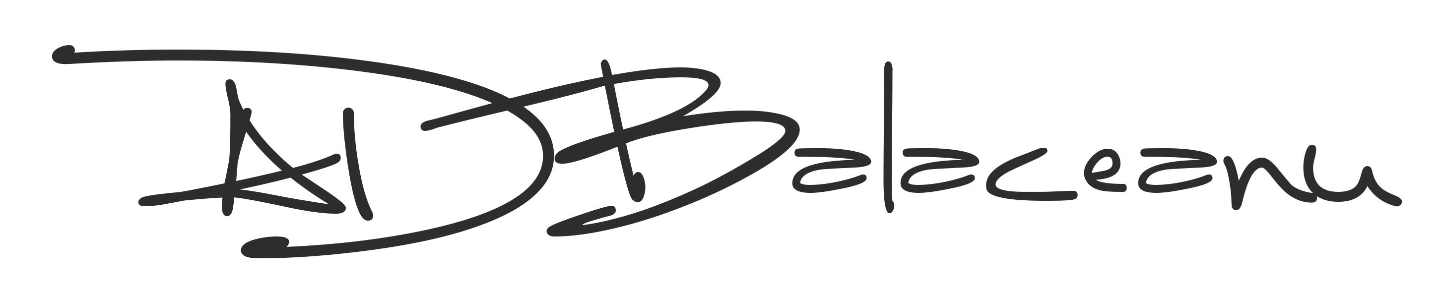 Alin Daniel Balaceanu Signature