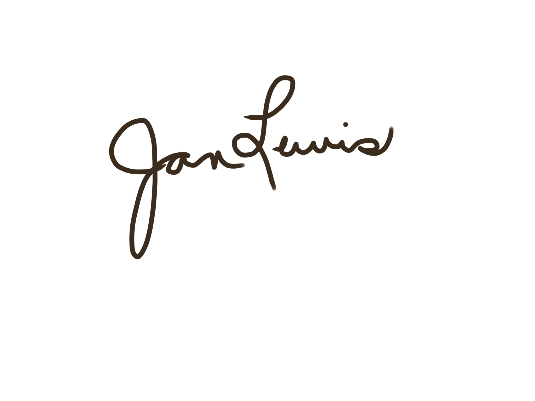 Jan Lewis Signature
