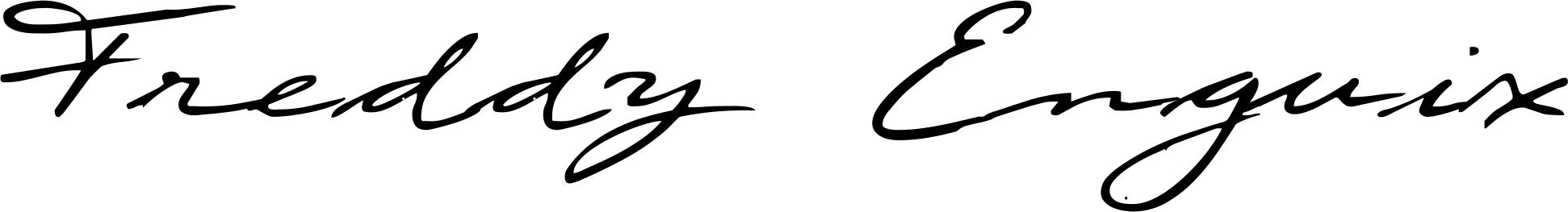 Freddy Enguix Signature