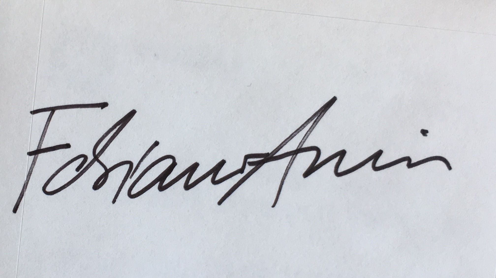 Fabiano Amin Signature