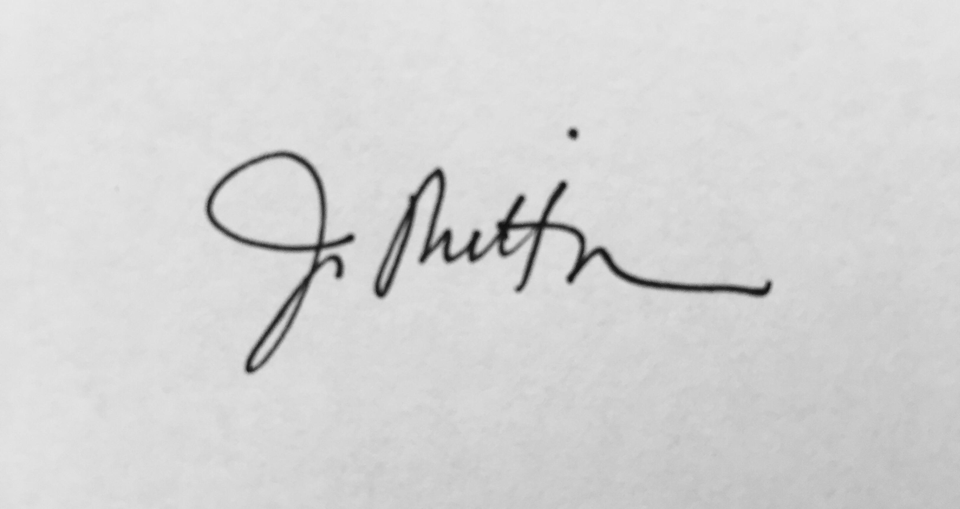 Joanna Mittman Signature