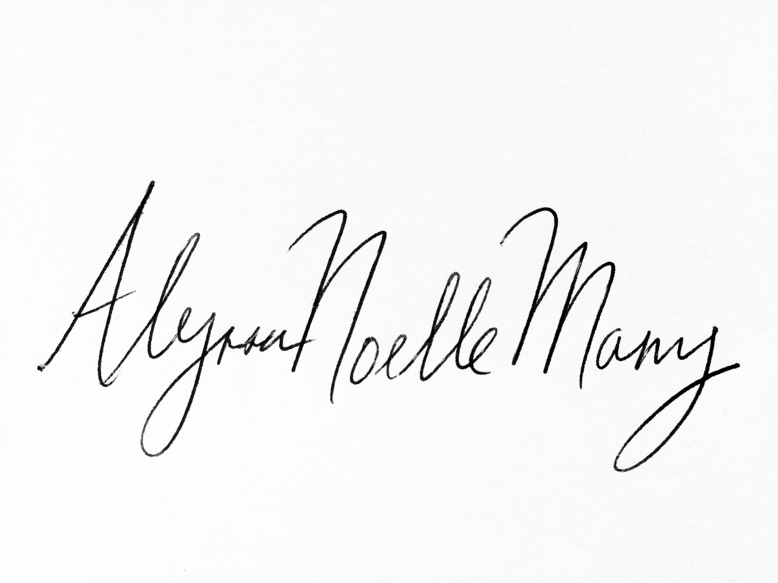 Alyssa  Noelle Many Signature