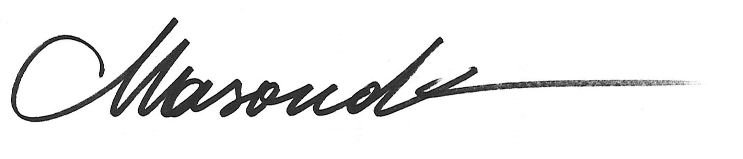 Masoud Kamali Signature
