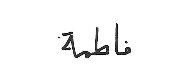 Fatema Josh Signature