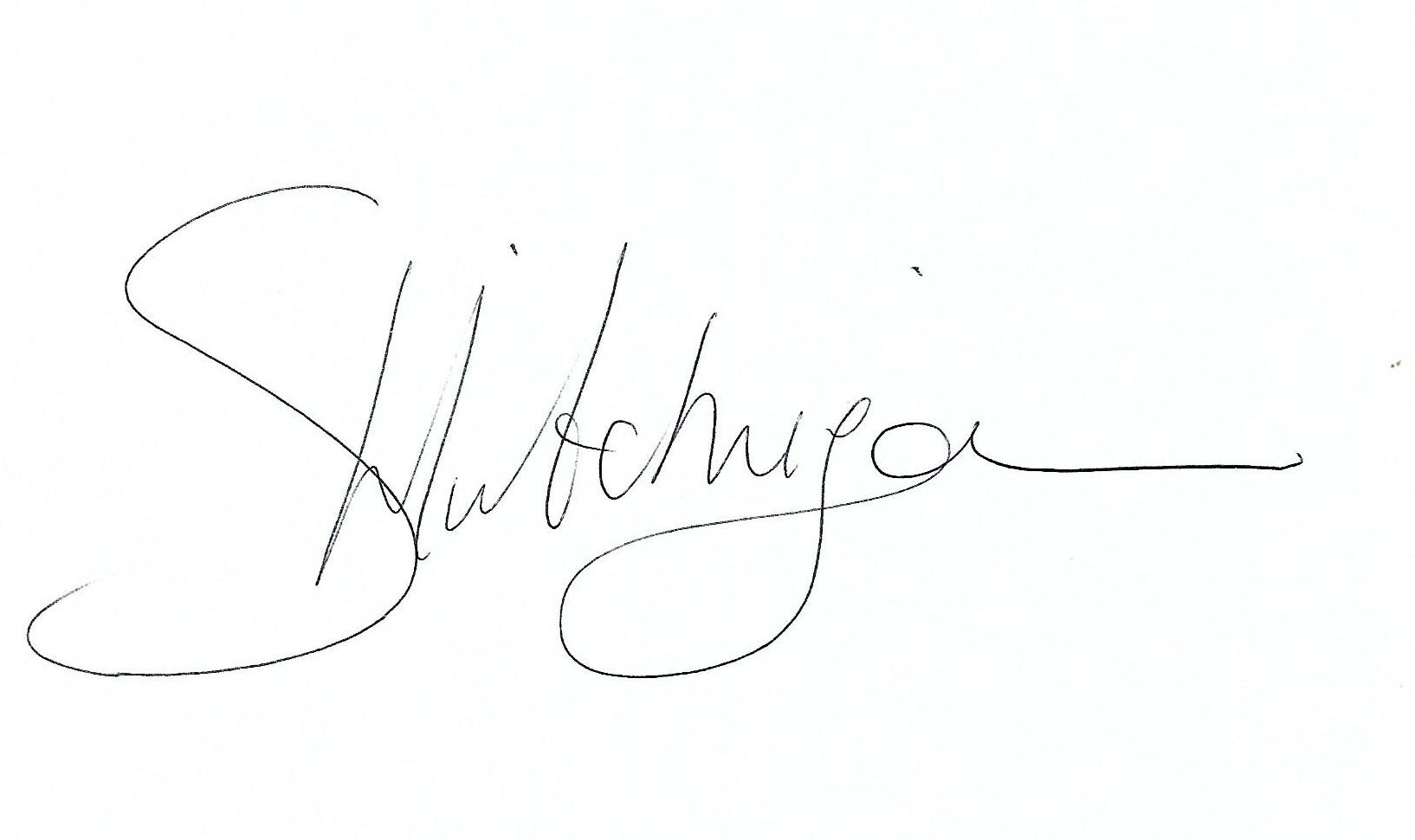 Samantha Hutchinson Signature