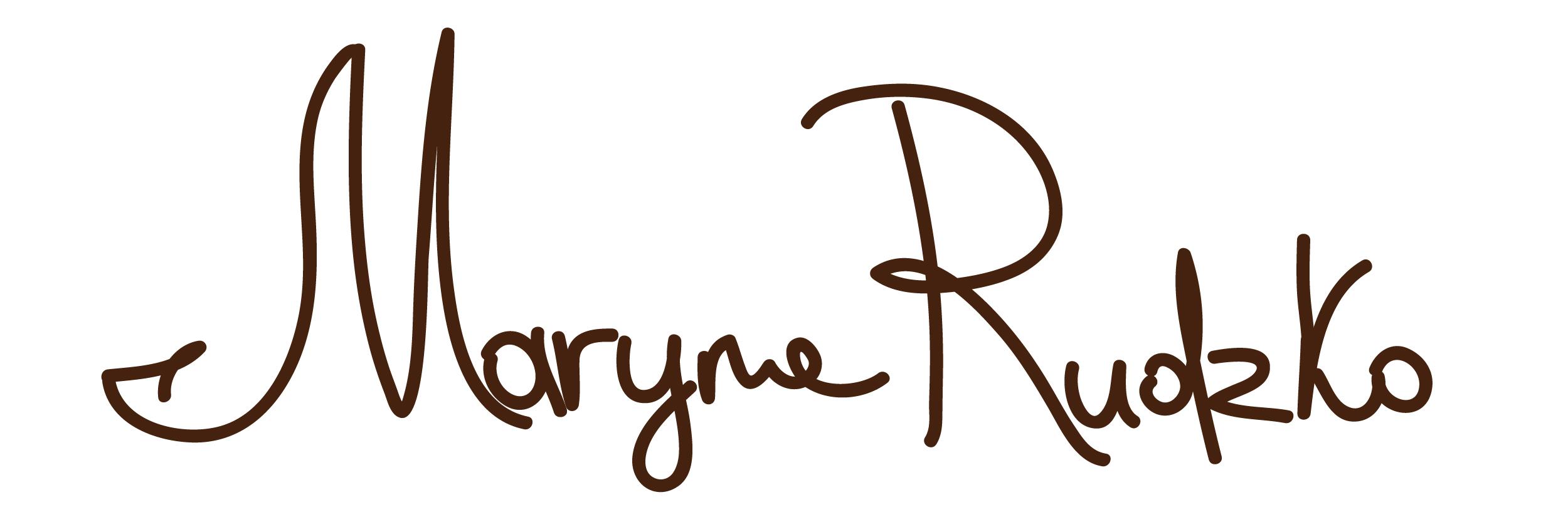 Maryna Rudzko Signature