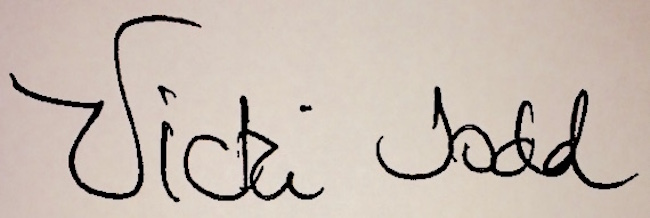 Vicki Todd Signature