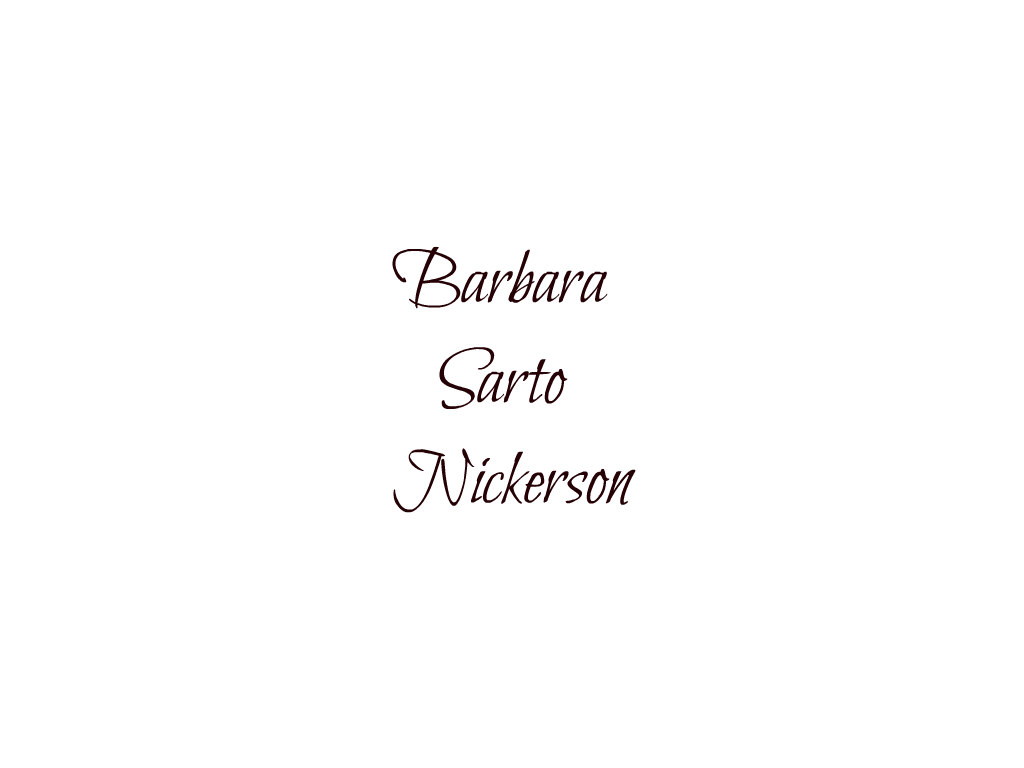 Barbara Sarto Nickerson Signature