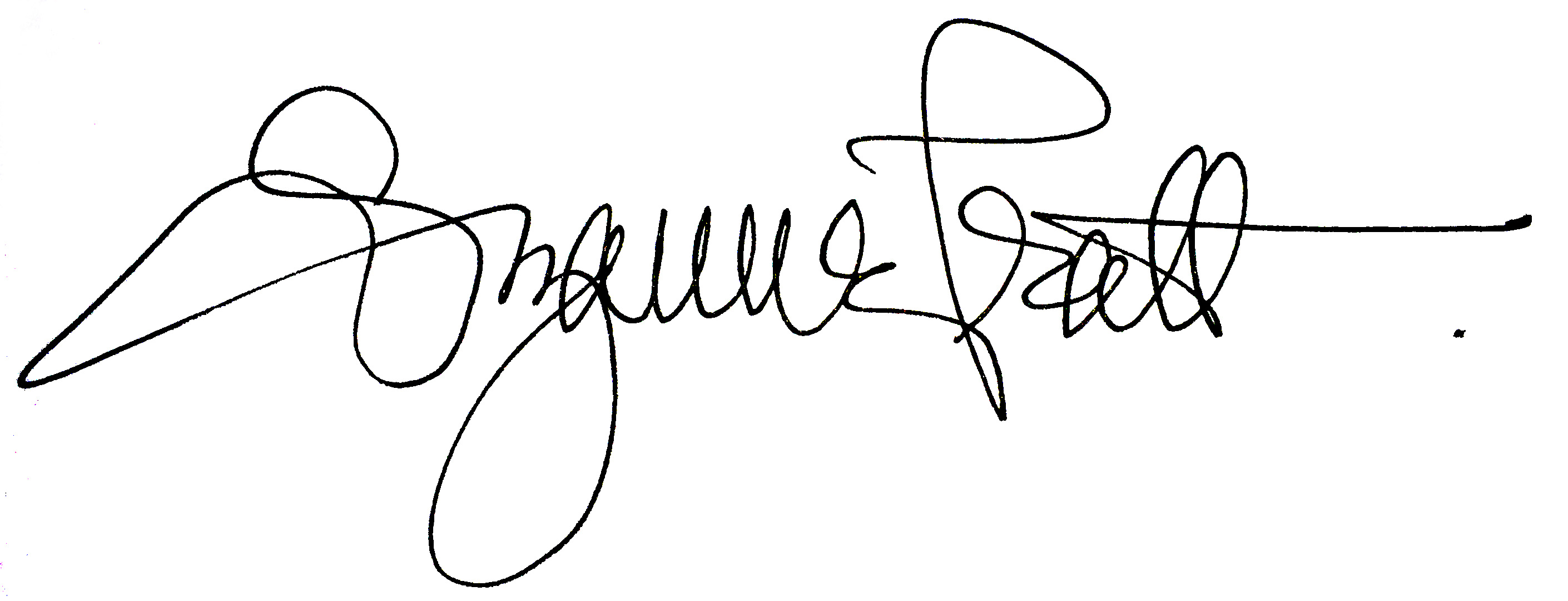 Suzanne Pratt Signature