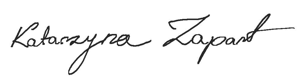 Kasia Zapart Signature