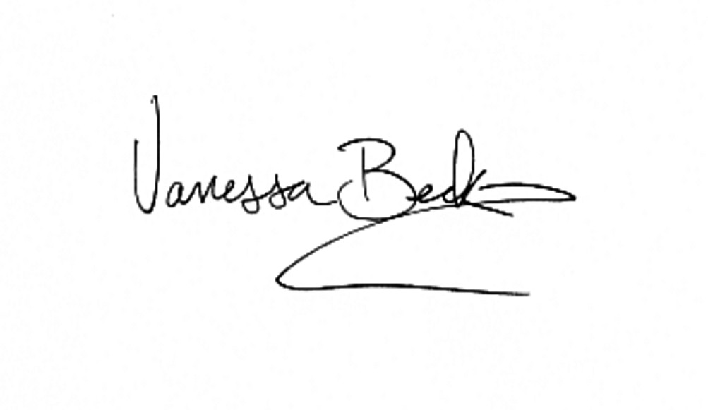 Vanessa beck Signature