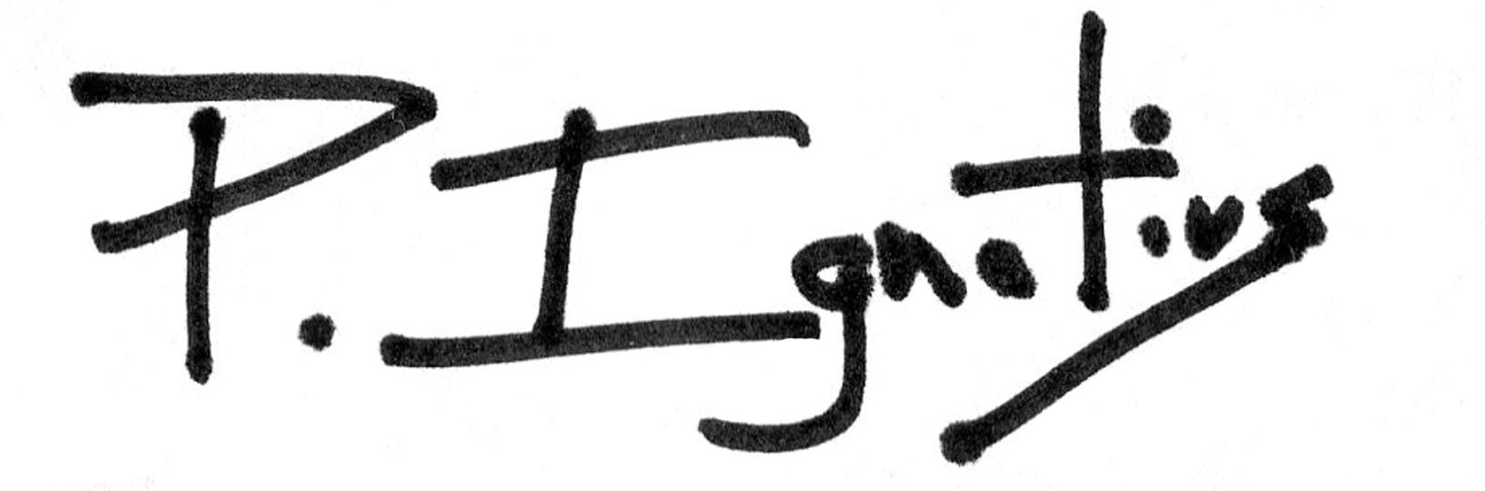 Peter Ignatius Signature