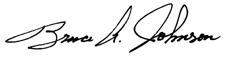 Bruce Johnson Signature