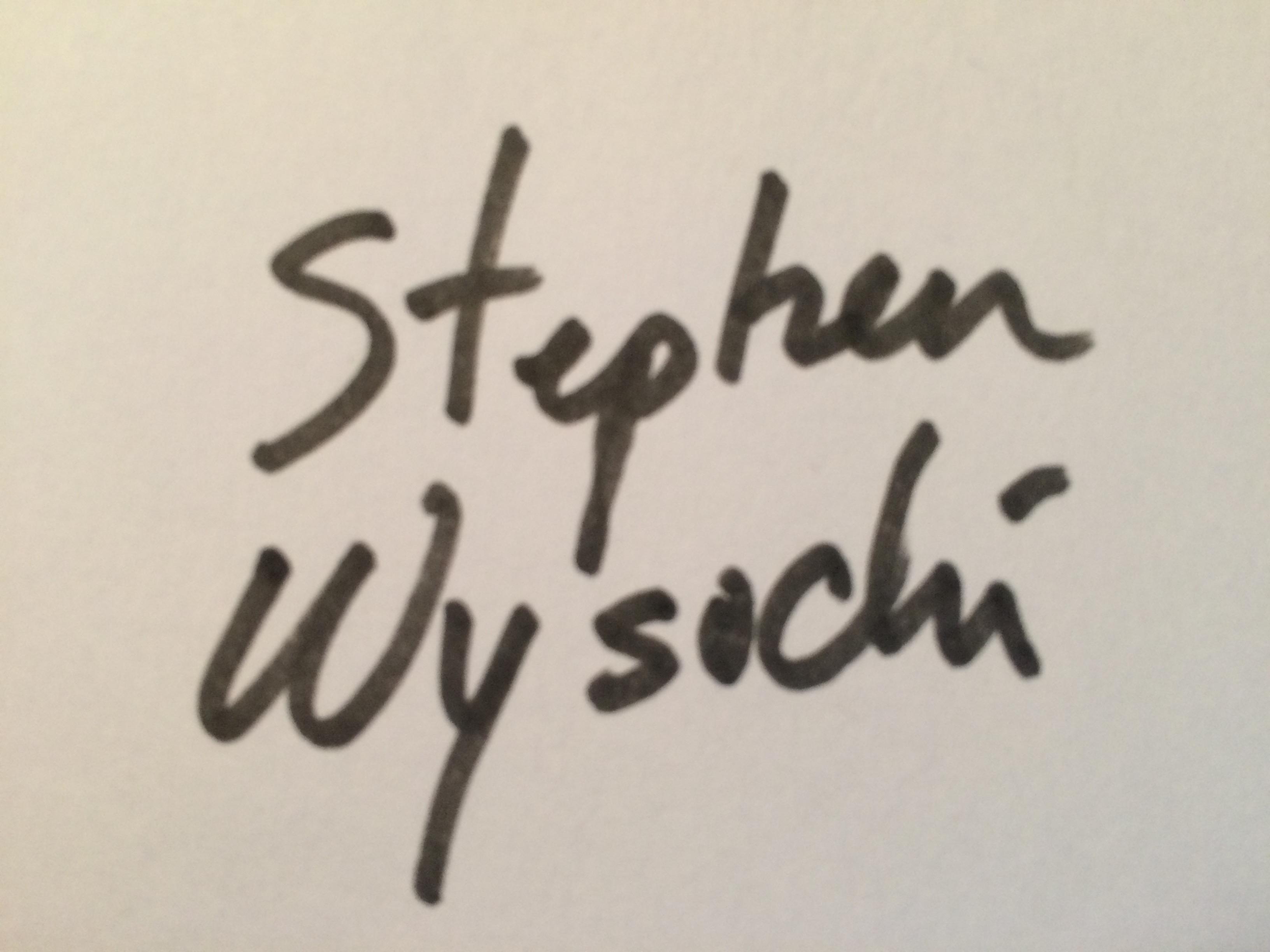 Stephen Wysocki Signature