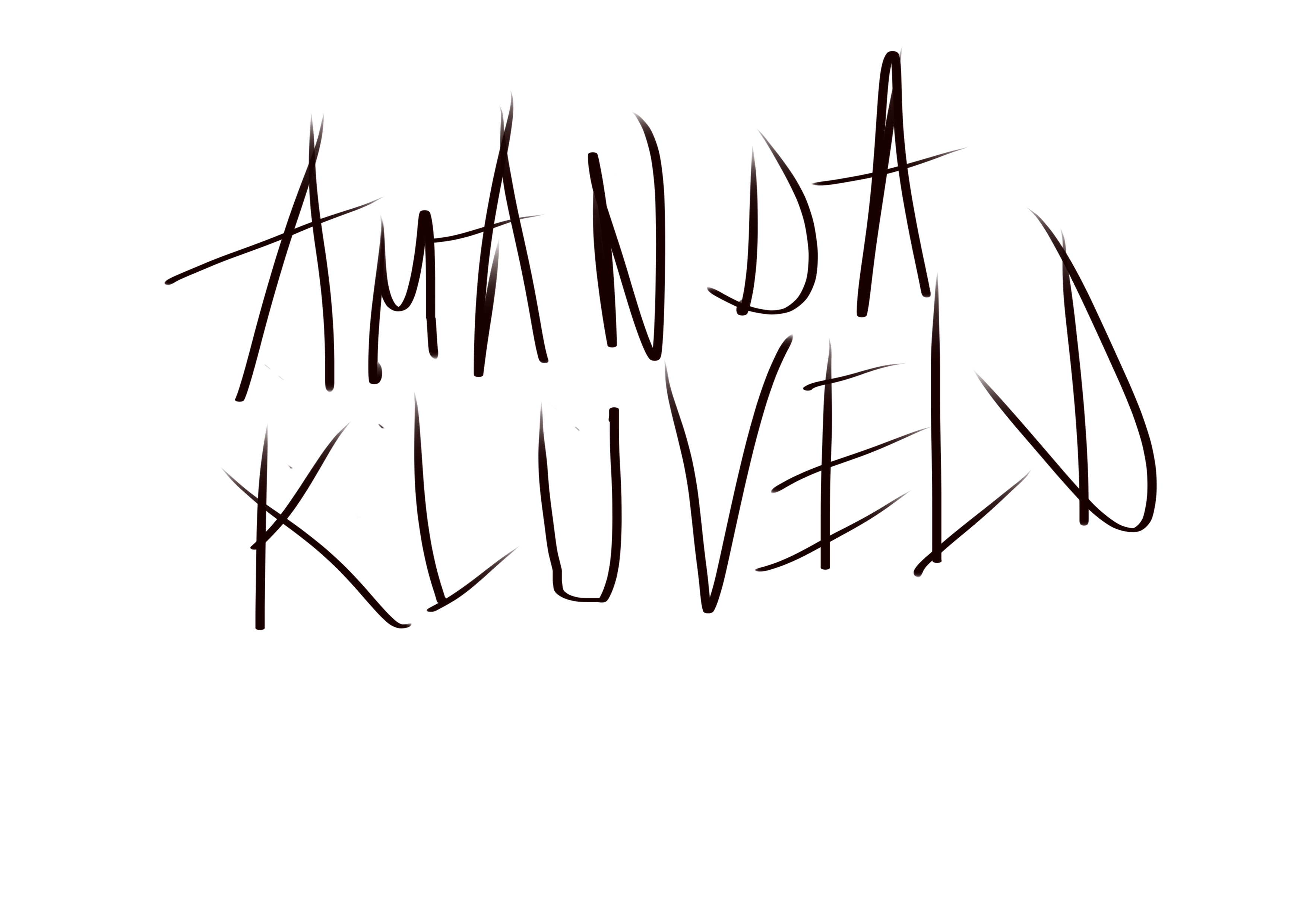 amanda kluveld Signature