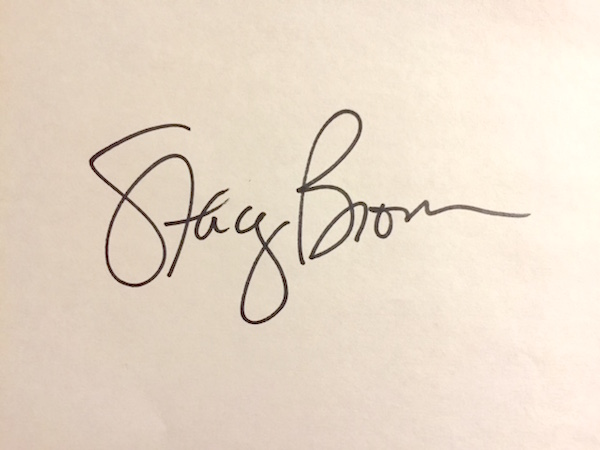 Stacey Brown Signature