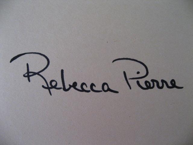 Rebecca Pierre Signature