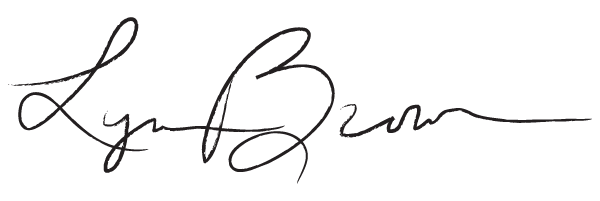Lynne Brown Signature