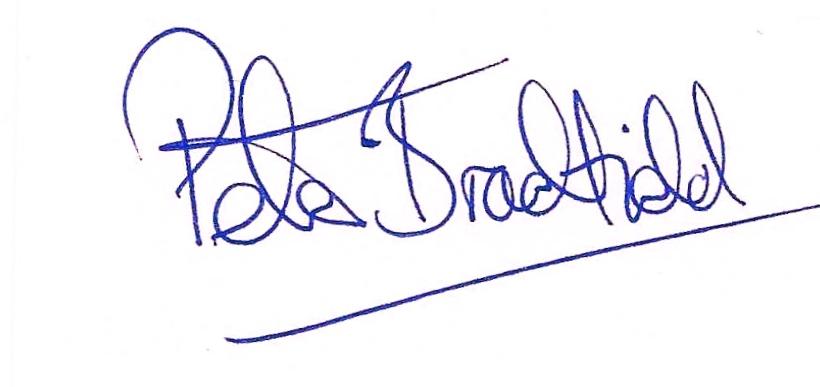 Peter Bradfield Signature