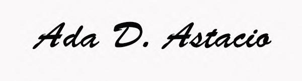 Ada Astacio Signature