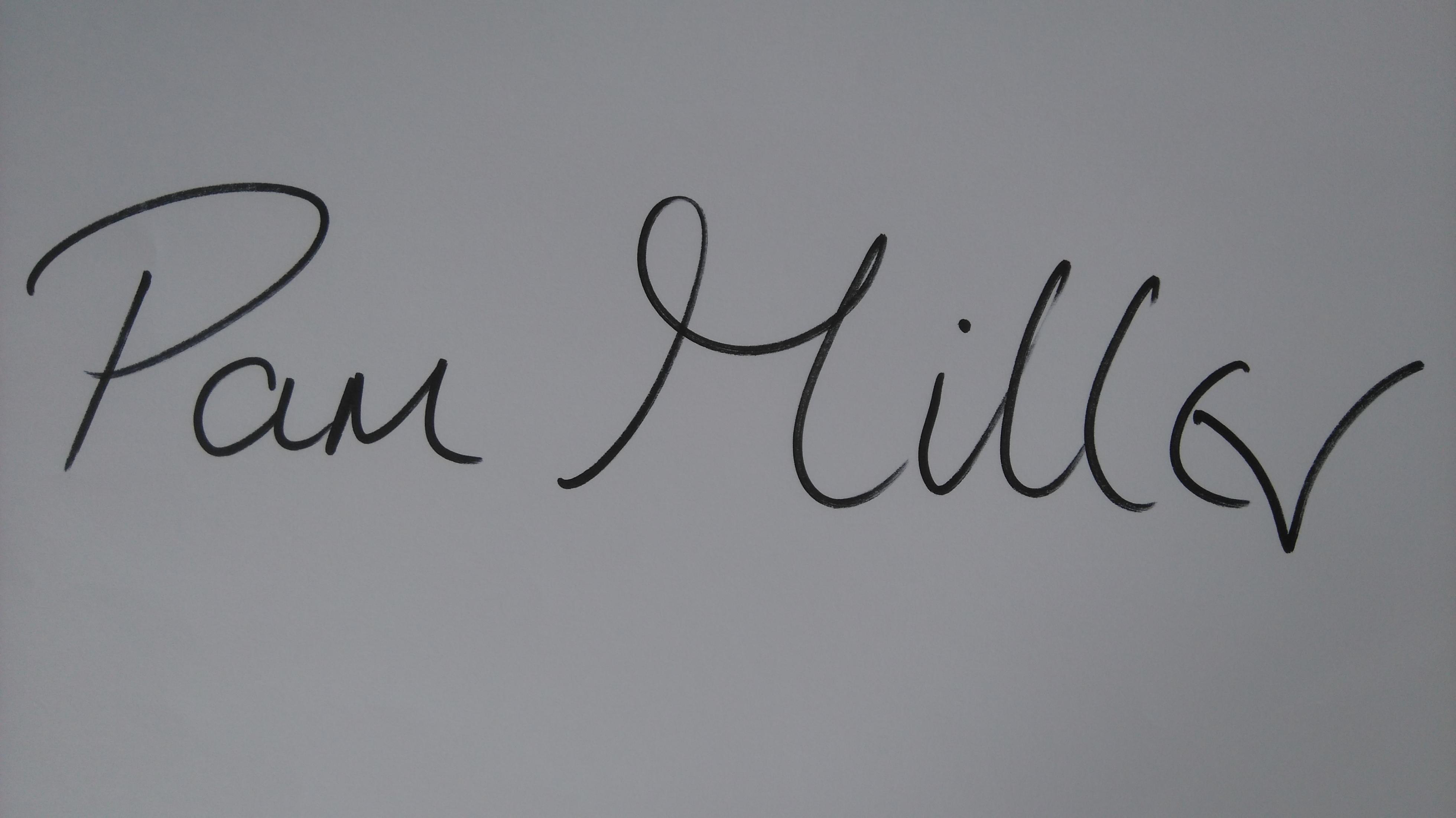 Pam  Miller Signature