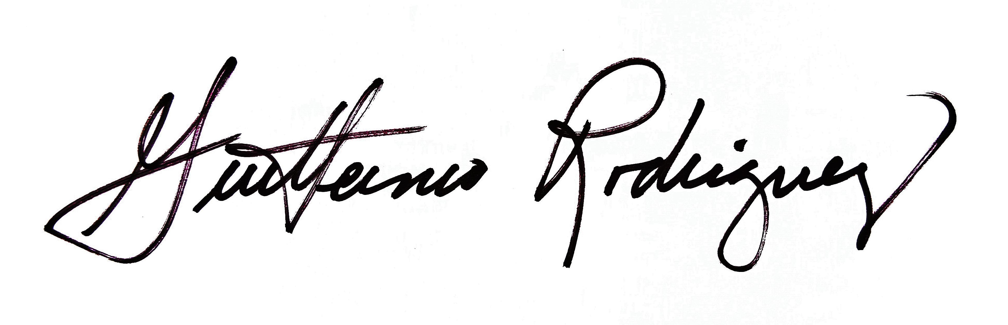 Guillermo Rodriguez Signature