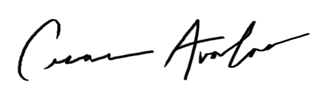 Cesar Avalos Signature