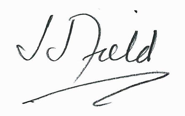 Joseph J Field Signature
