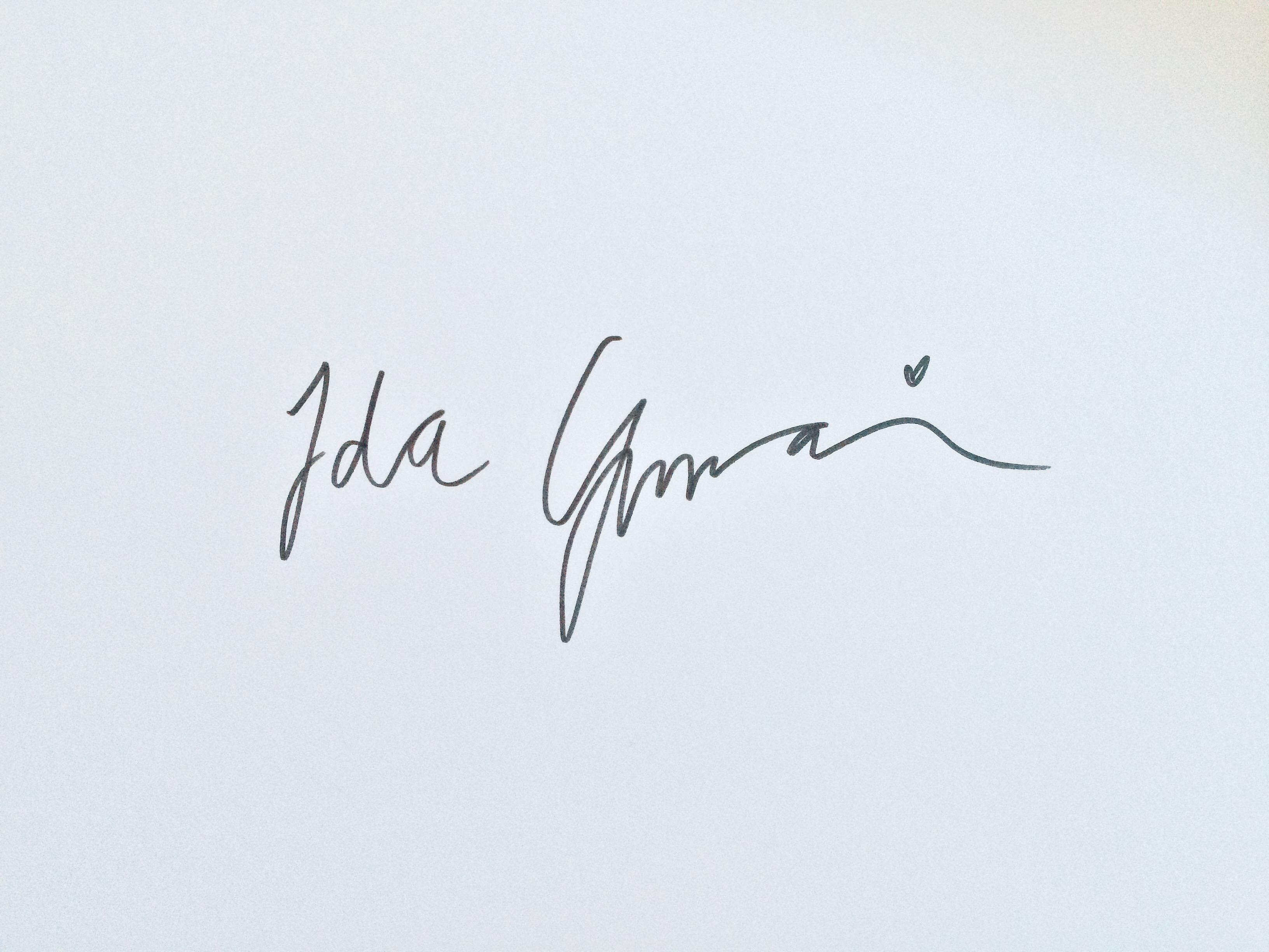 Ida  Ginman Signature