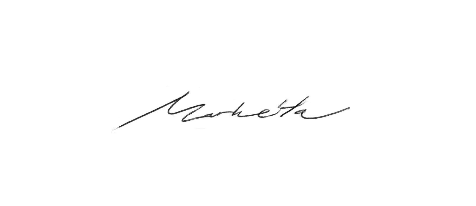 Markéta Svobodová Signature