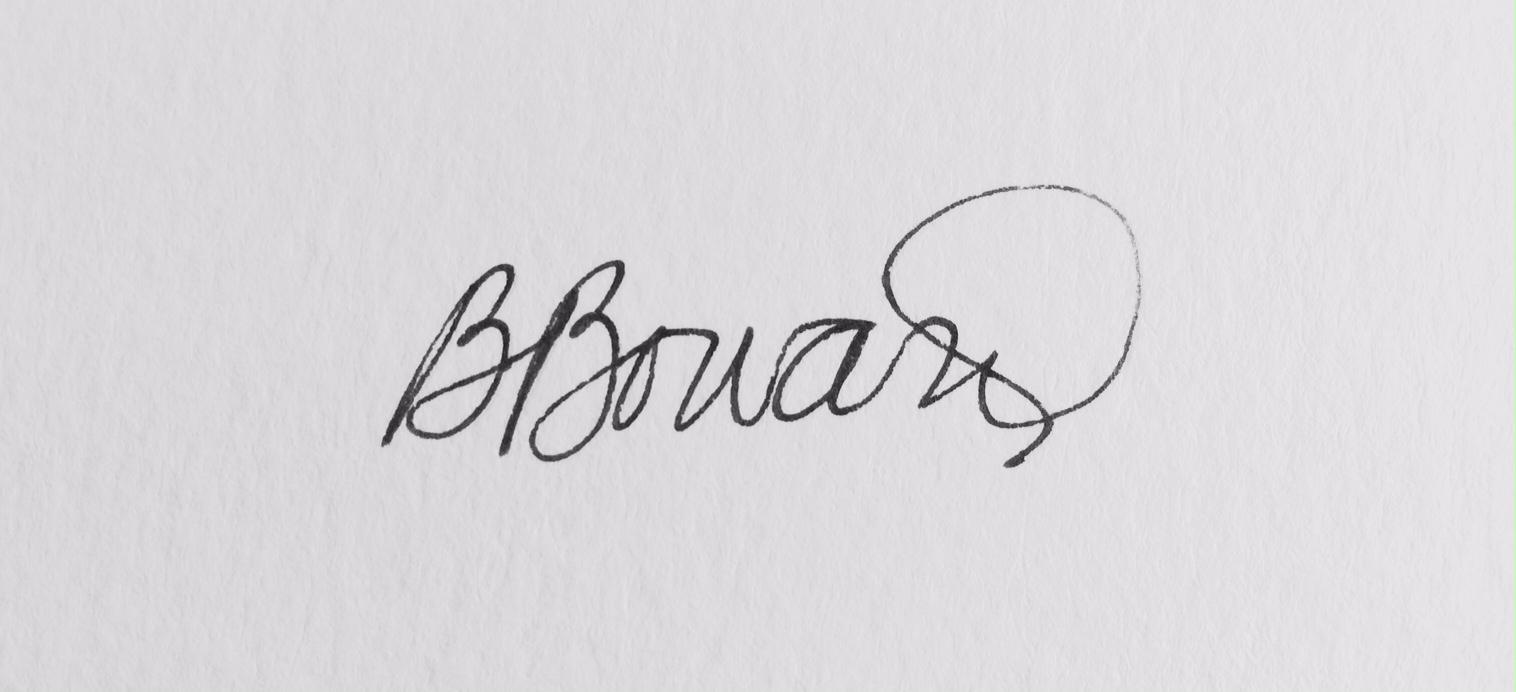 Barbara Boward Signature