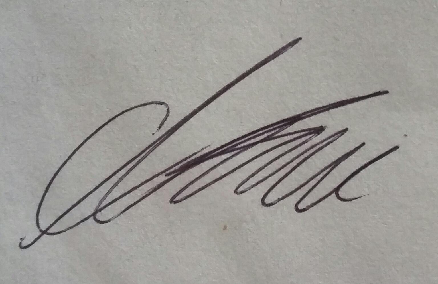 Cameron Gilham Signature