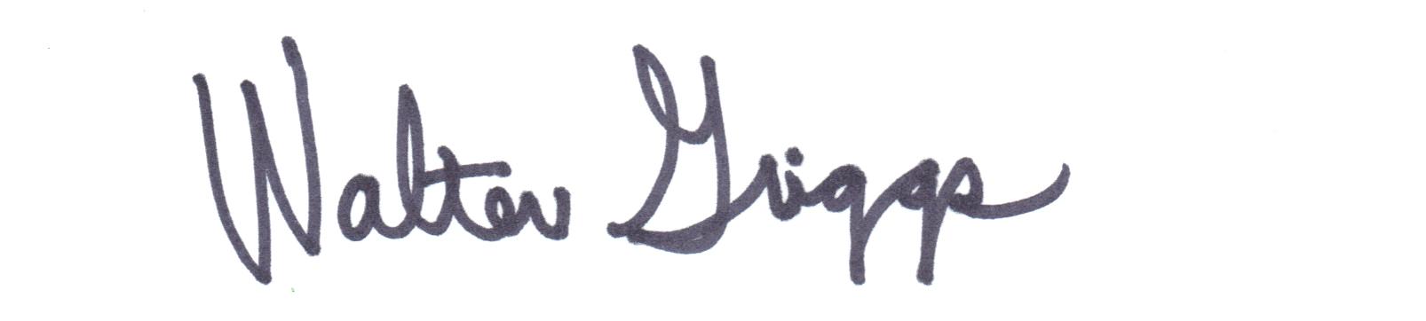 Walter Griggs Signature