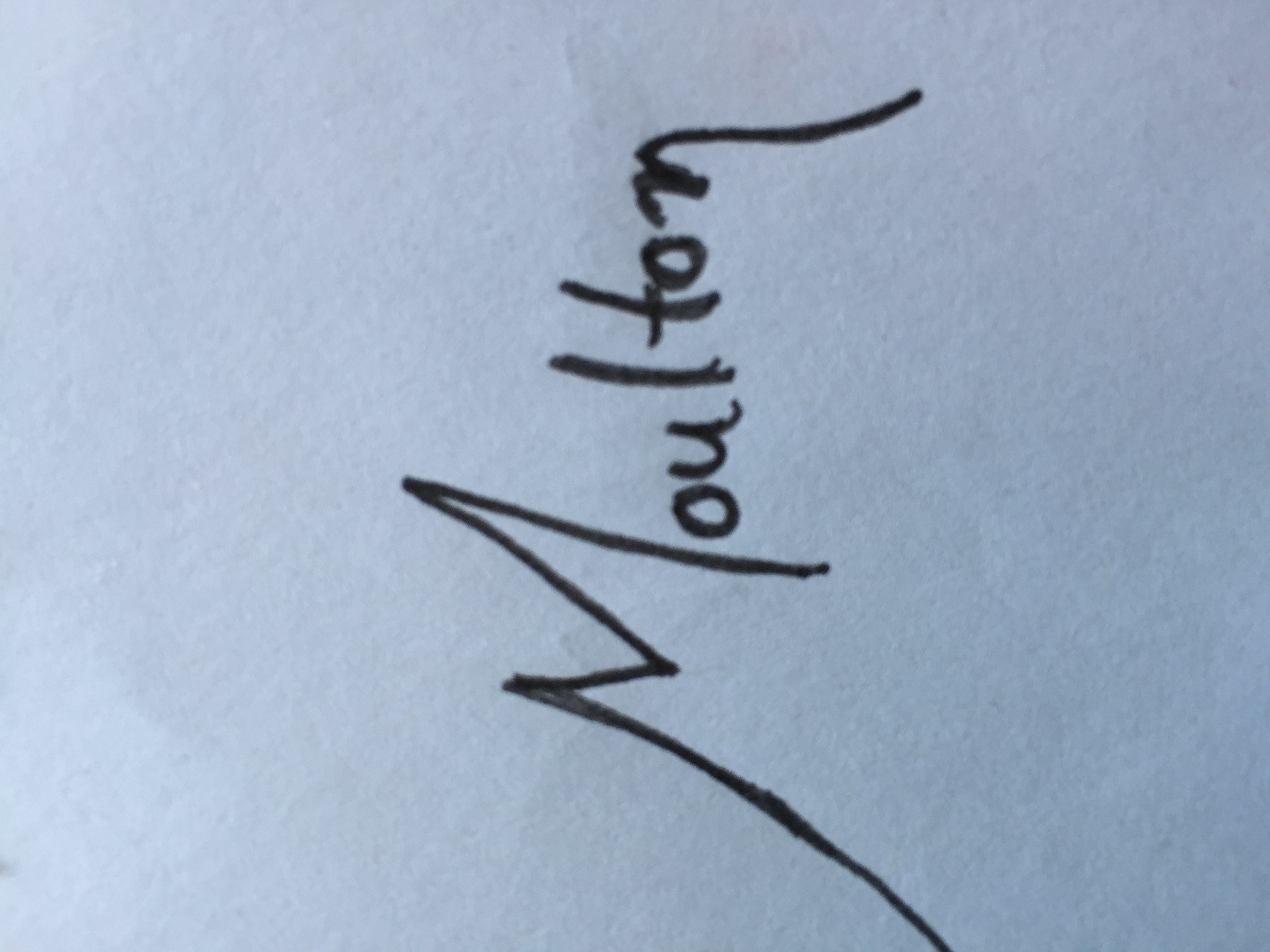 Shirley Moulton Signature