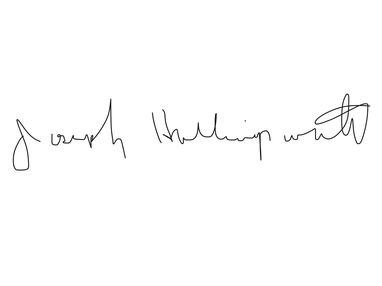 Joseph Hollingsworth Signature