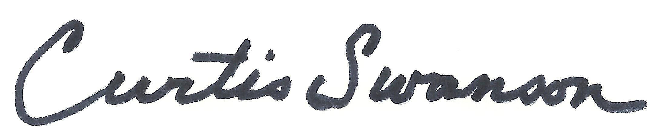 Curtis Swanson Signature