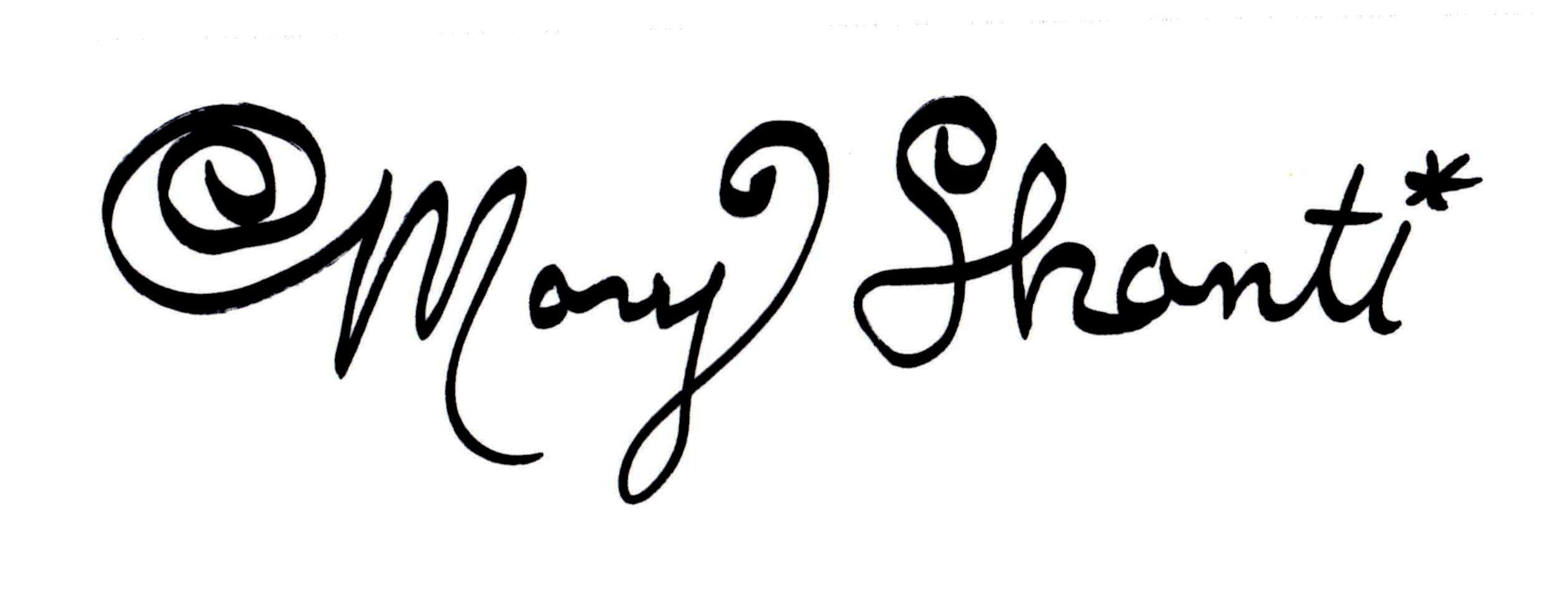 Mary Shanti Signature