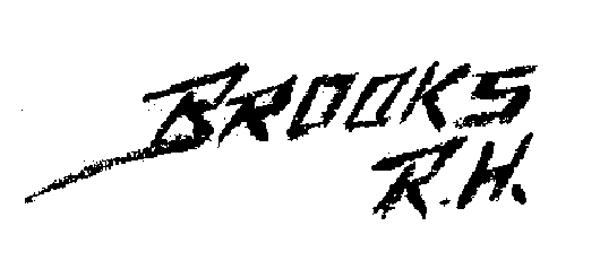 Roy H Brooks Signature