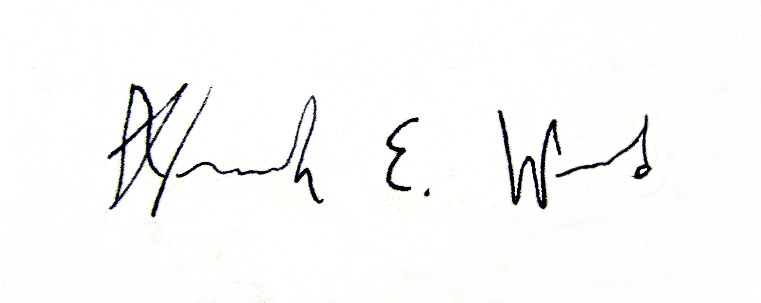 Hannah Ward Signature