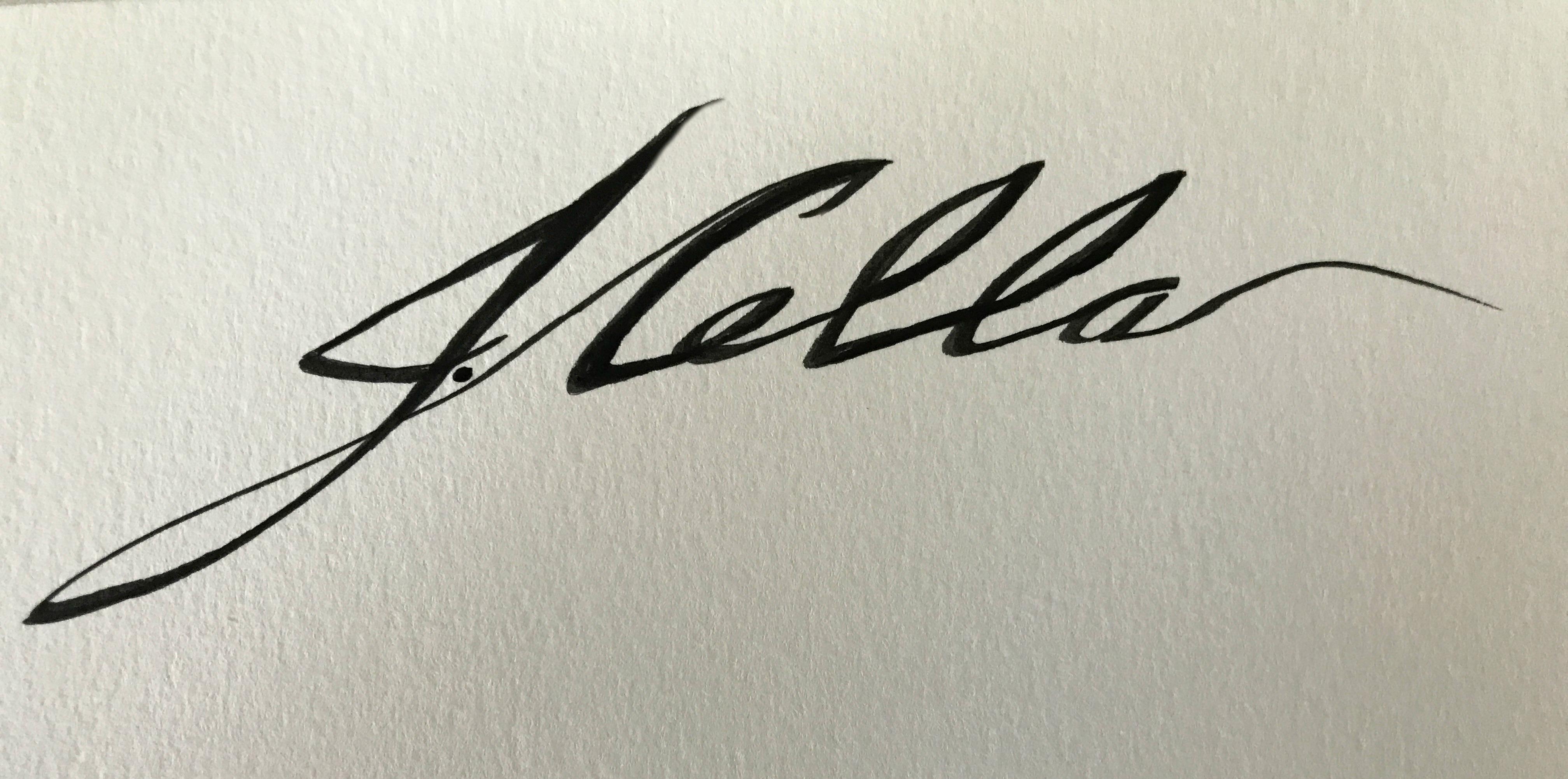 Joann Cella Signature