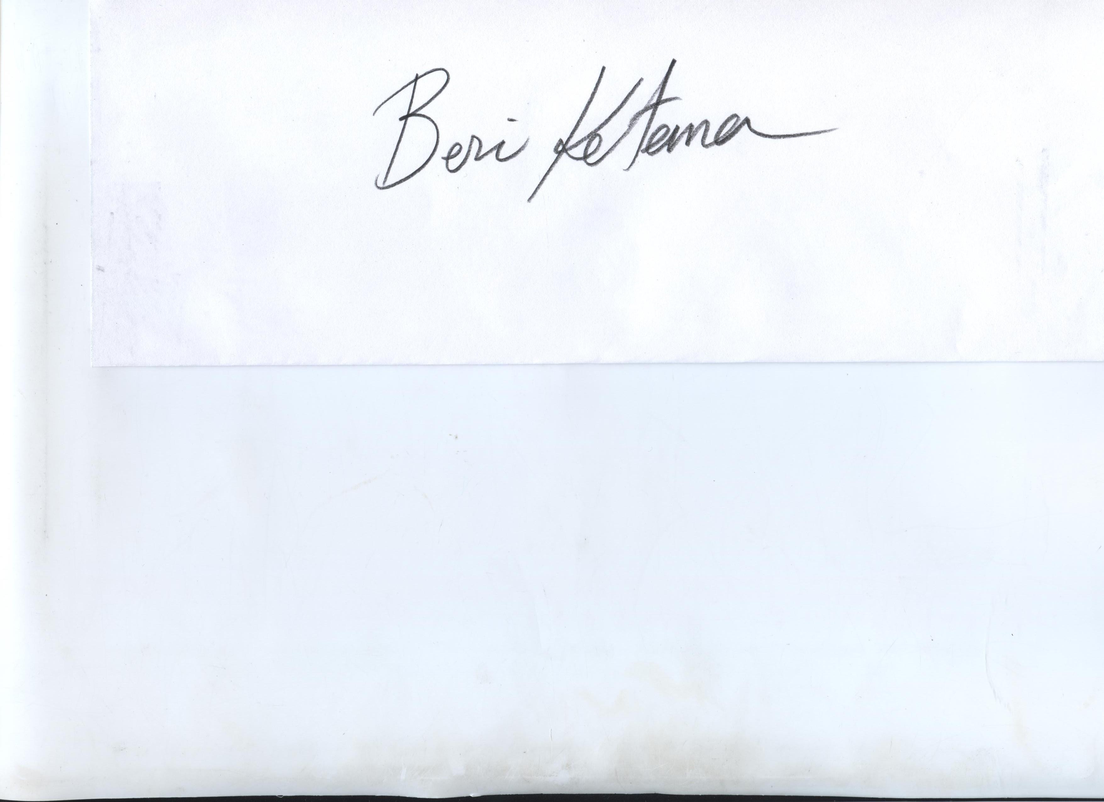 Beri Ketema Signature