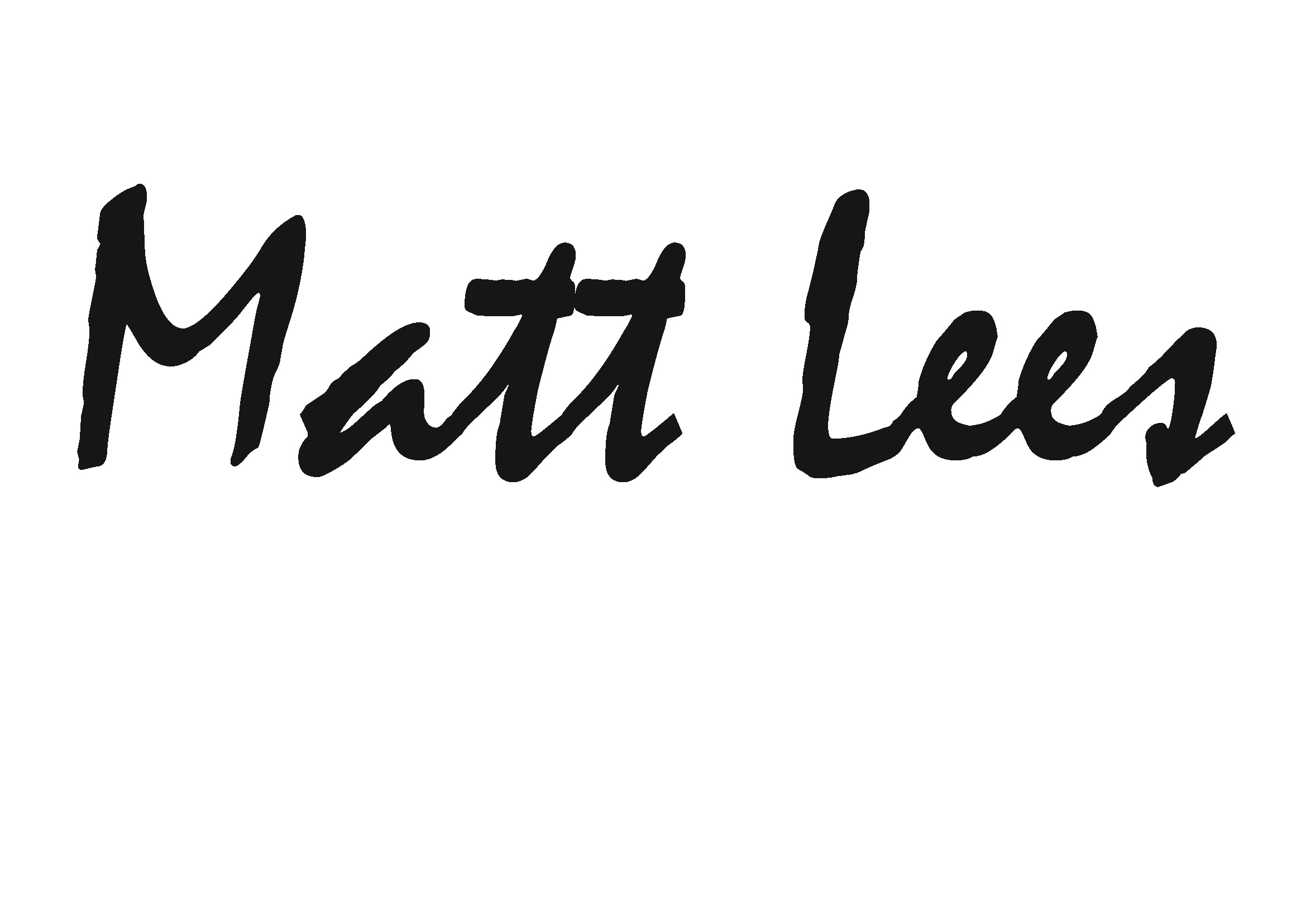 Matt Lees Signature