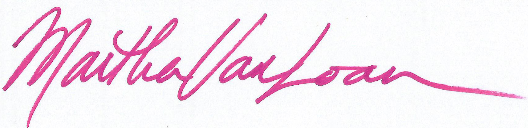 Martha Van Loan Signature