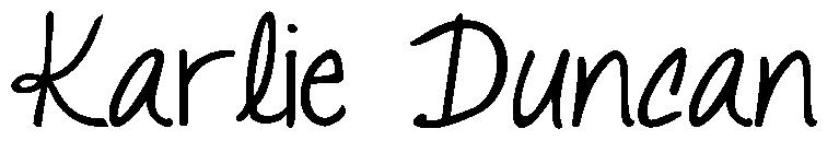 Karlie Duncan Signature