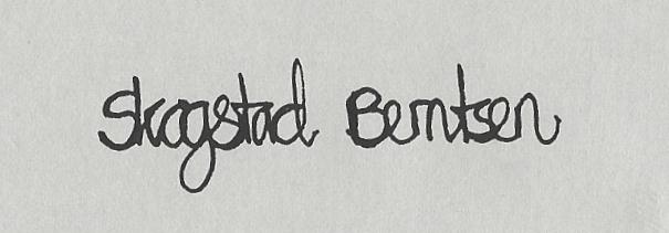 Siri  Skogstad berntsen Signature
