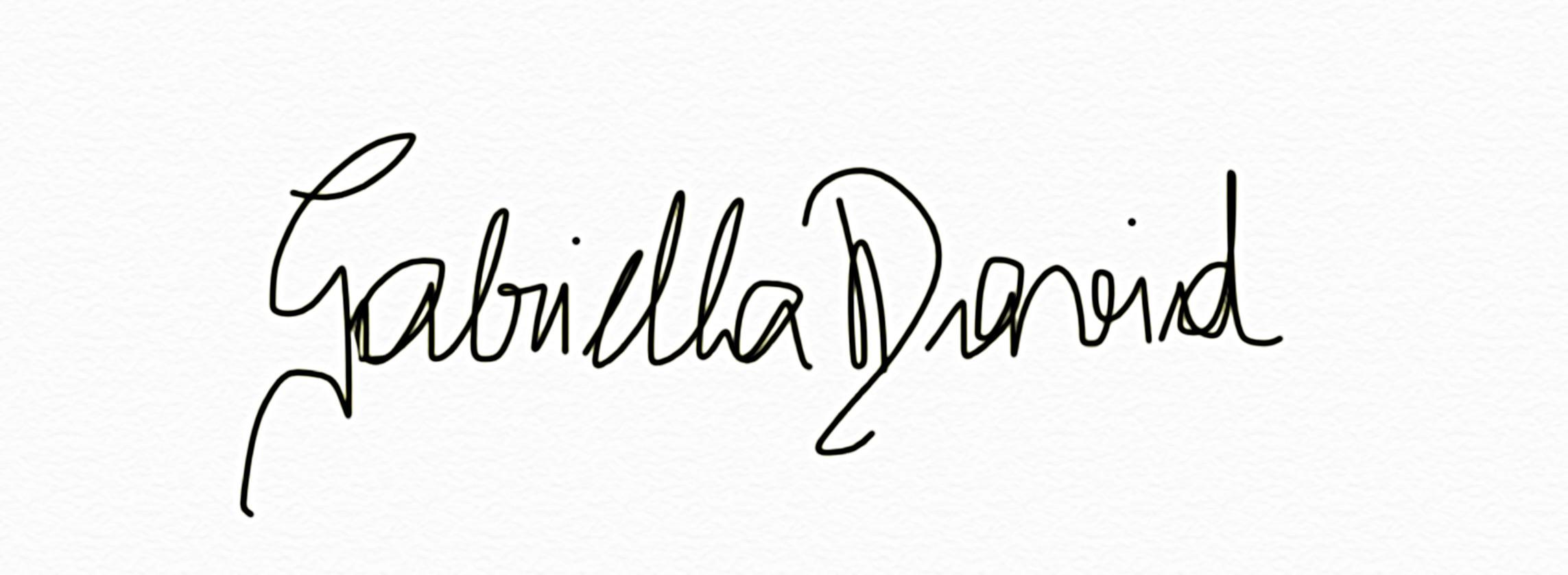 Gabriella David Signature