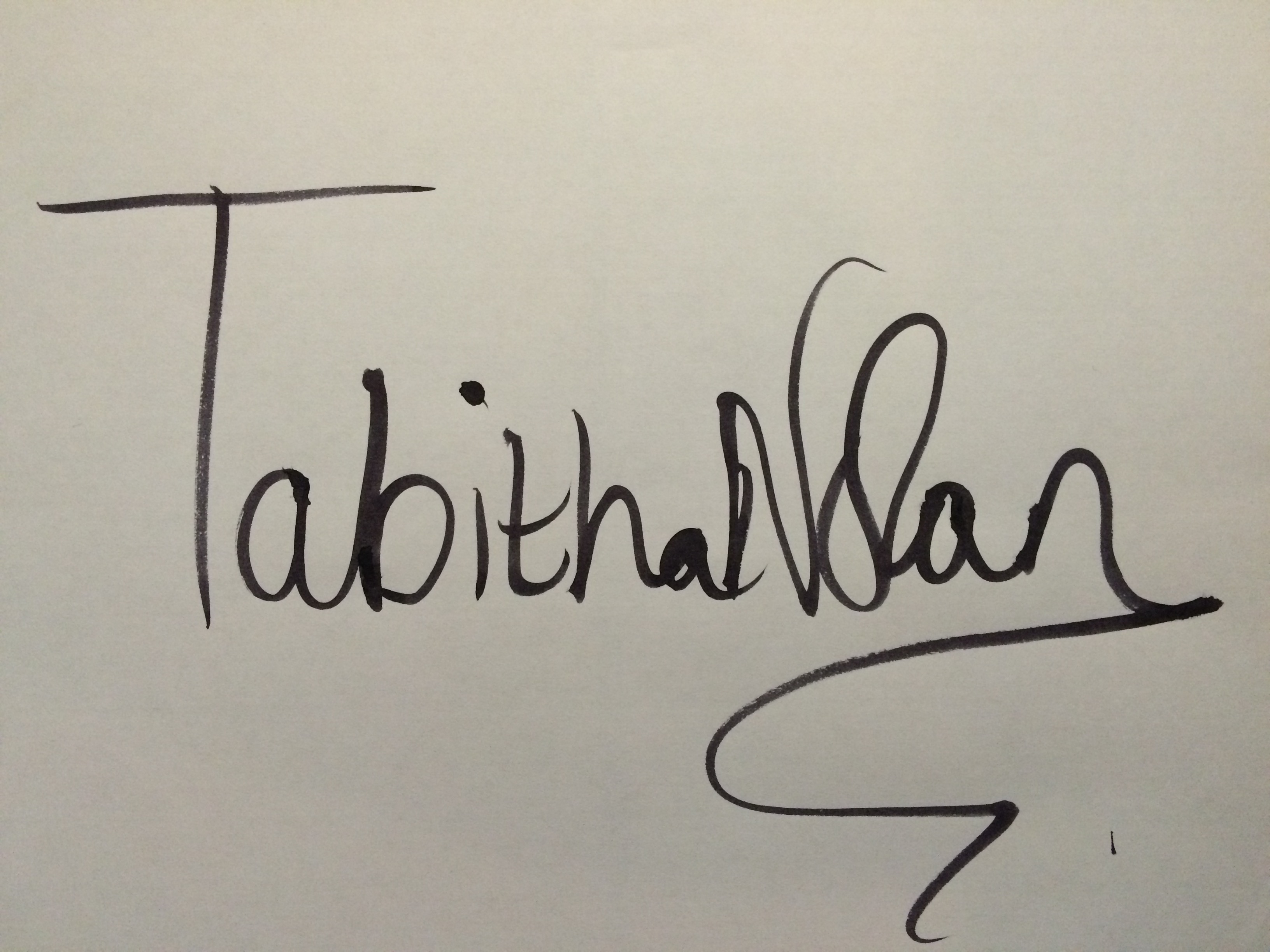 tabitha nolan Signature